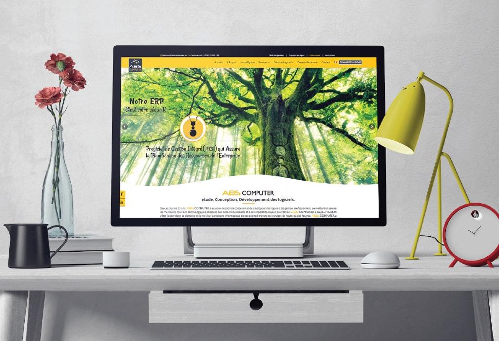 Création d'un site web pour :Abs Computer