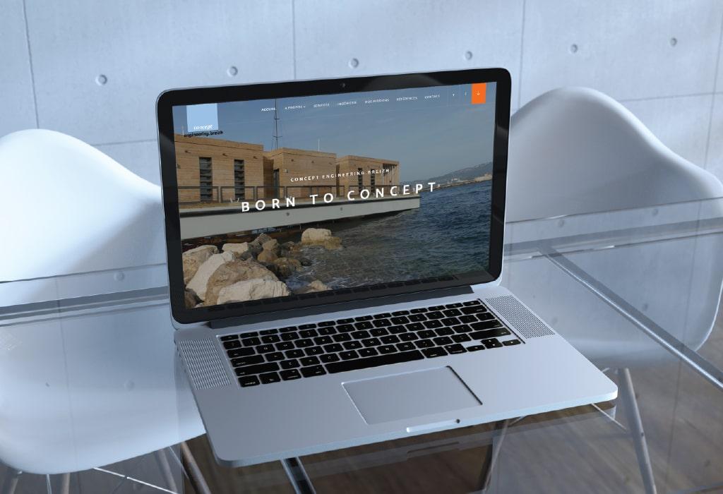 Création d'un site web pour : Groupe Concept Engineering