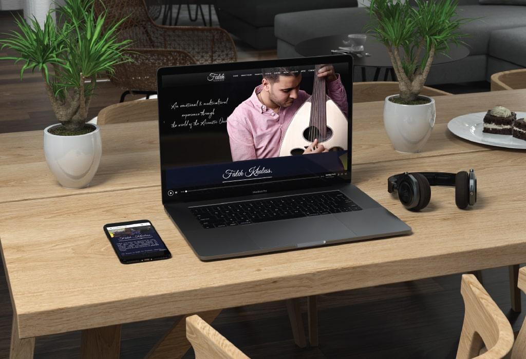 Création d'un site web pour : Faleh Khaless