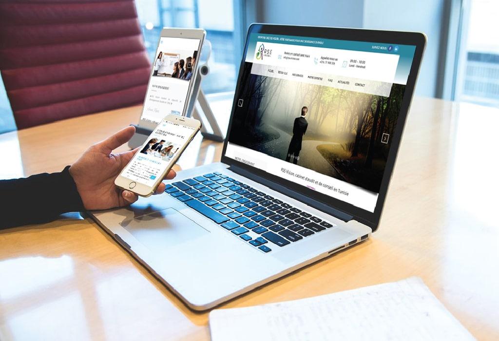 Création d'un site web pour : RSE Vision