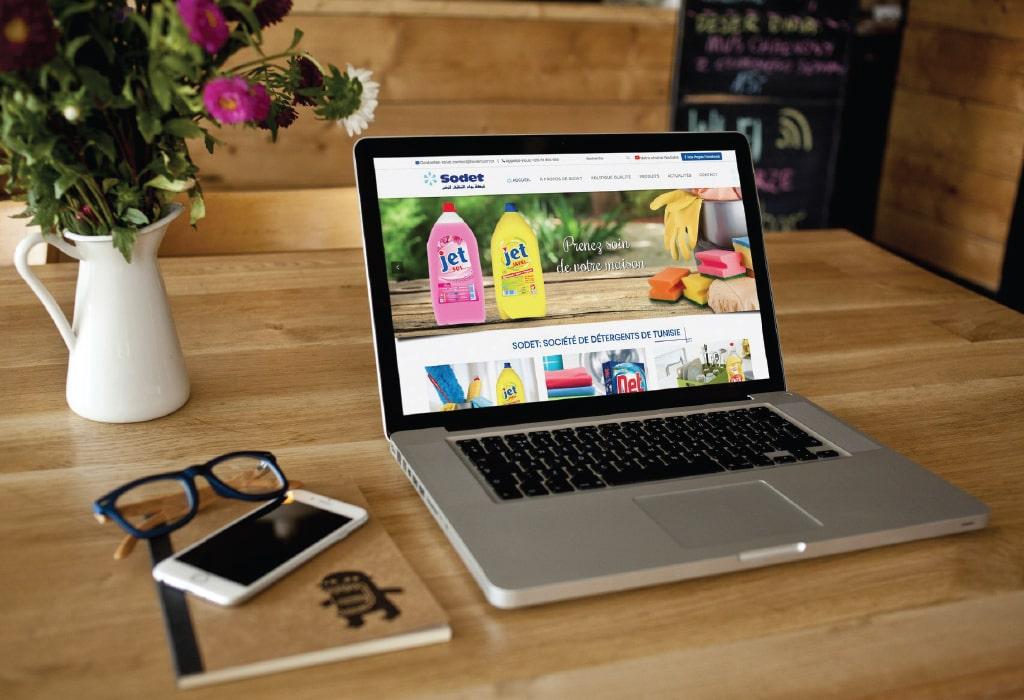 Création d'un site web pour : SODET