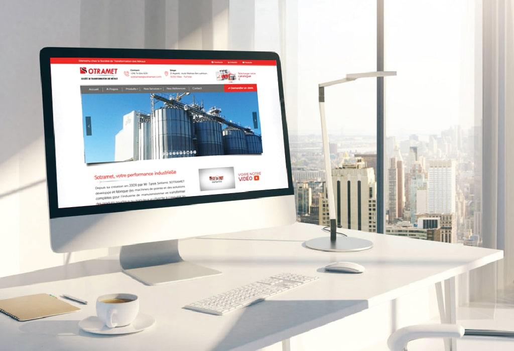 Création d'un site web pour : SOTRAMET
