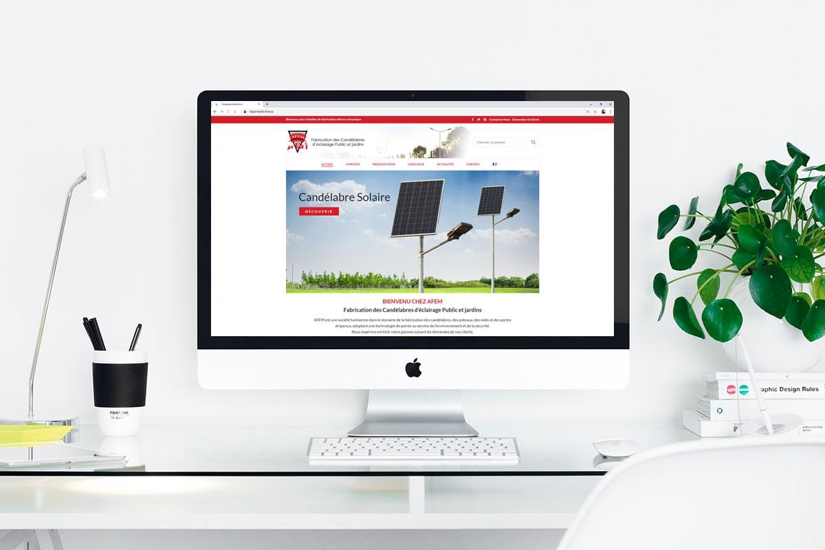 Création d'un site web pour : AFEM