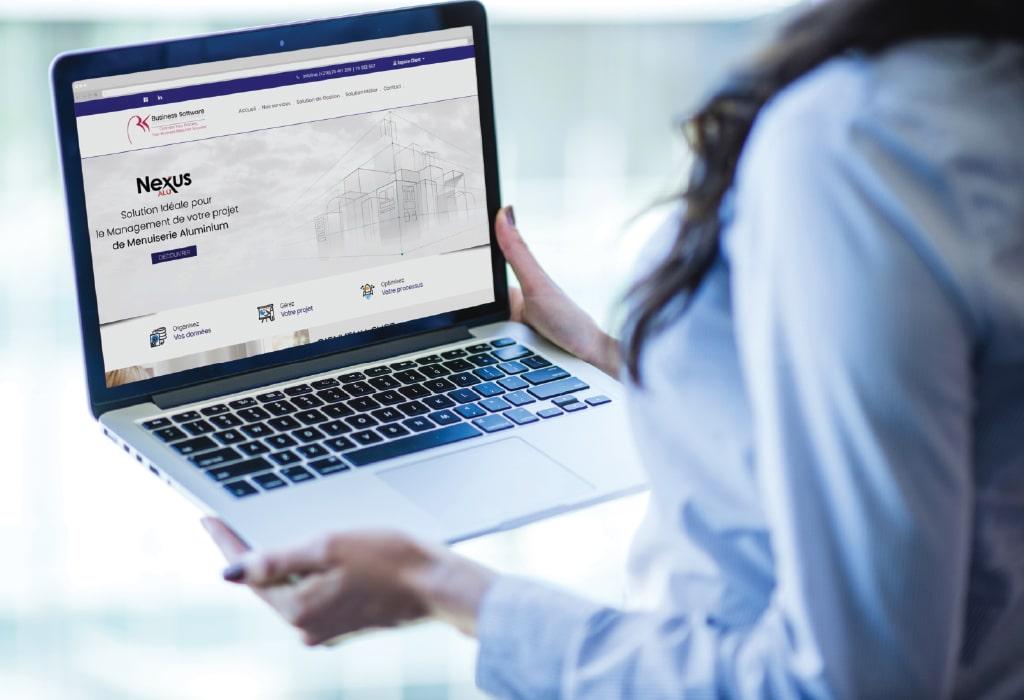 Création d'un site web pour :Business Software