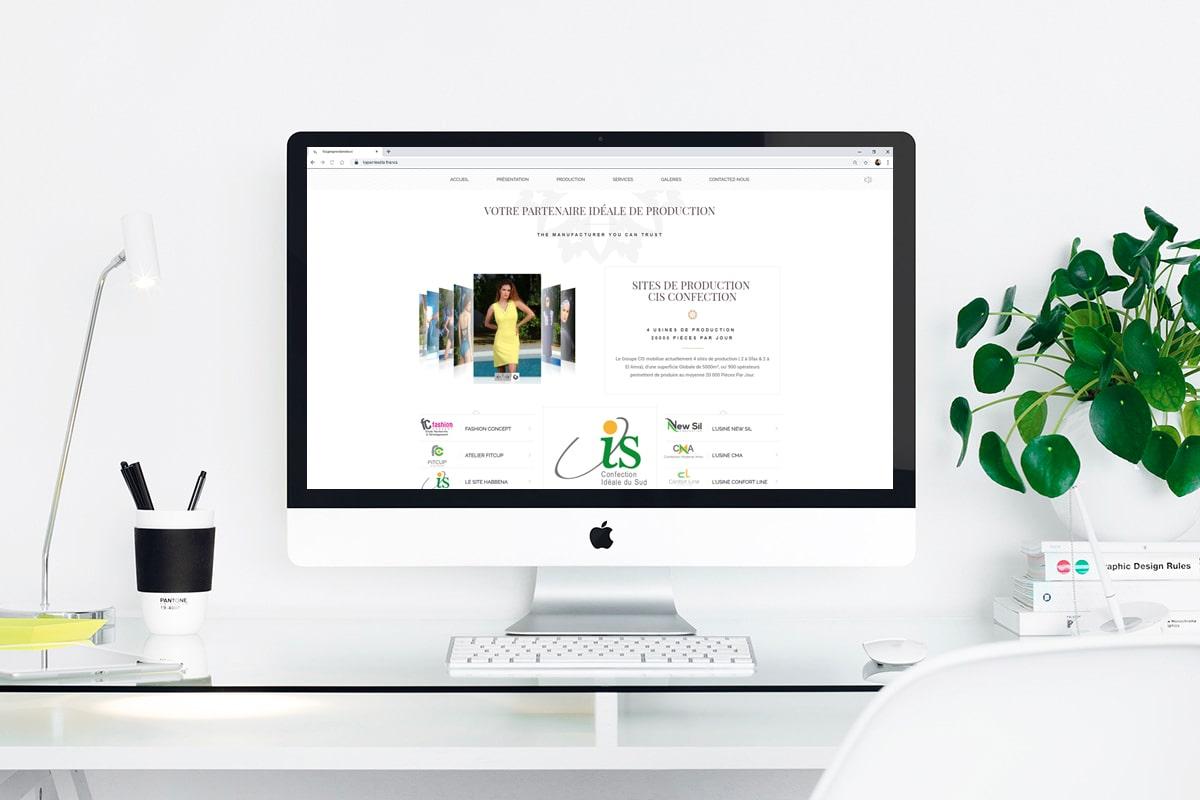 Création d'un site web pour : CIS Confection