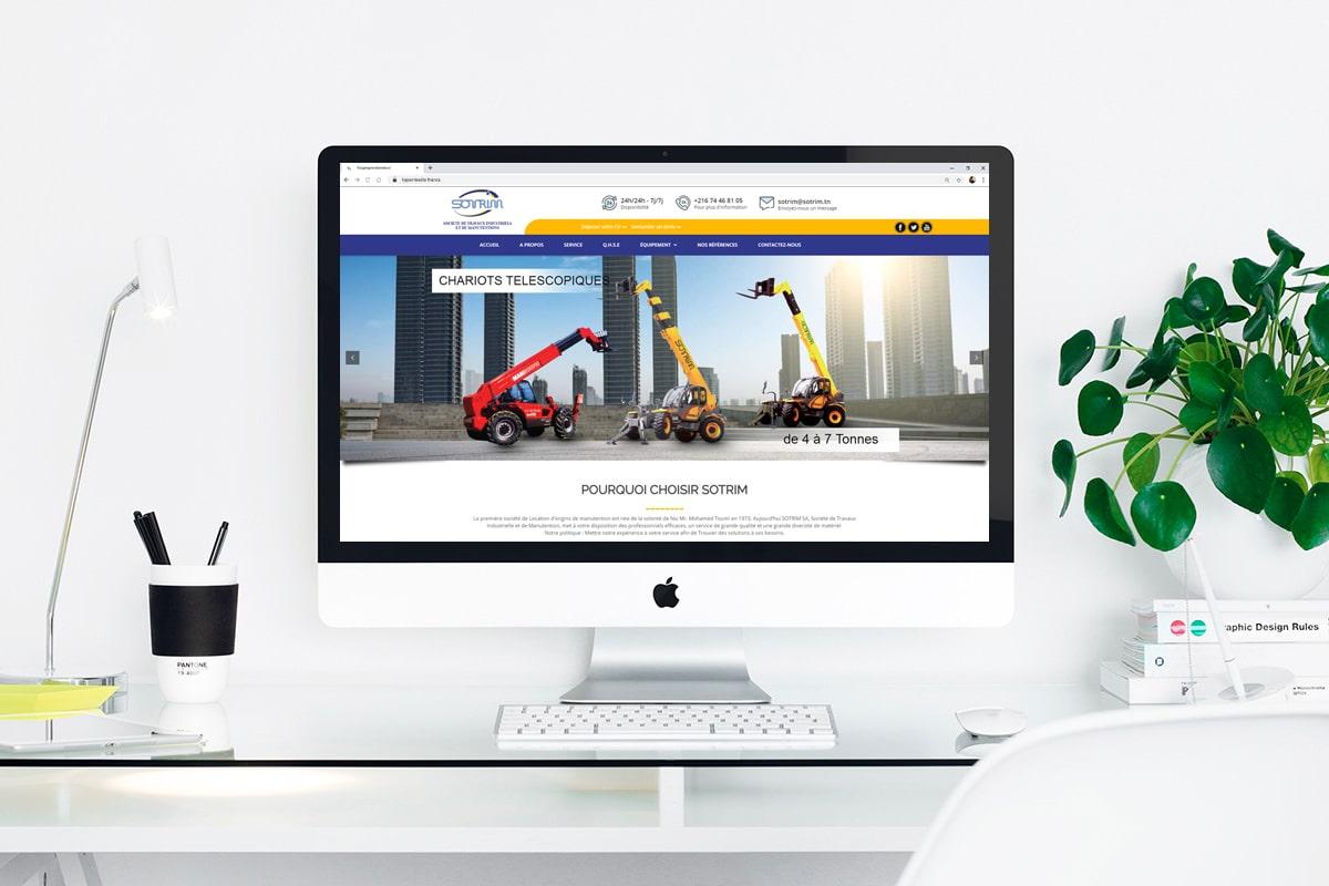 Création d'un site web pour : SOTRIM