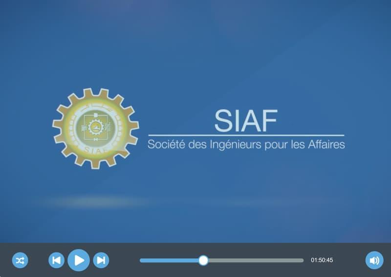 Vidéo de présentation de la société «SIAF»