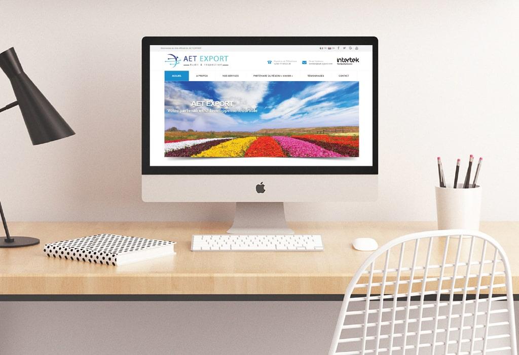 Création d'un site web pour : Aet Export