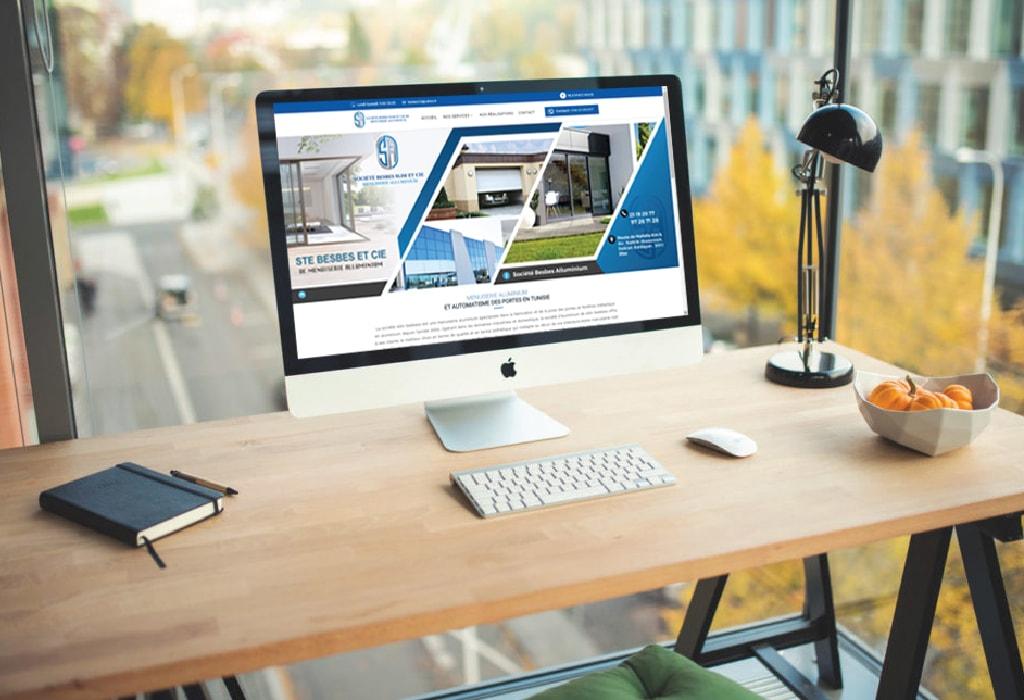 Création d'un site web pour : Besbes Aluminium