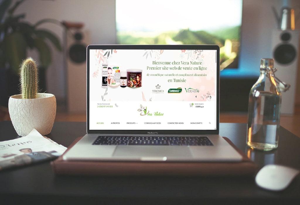 Création d'un site web pour : Vera nature