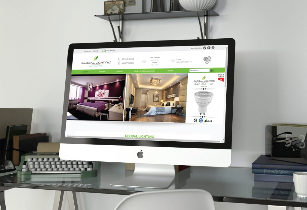 Création d'un site web pour : Global Lighting