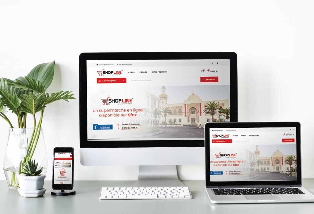 Création d'un site web pour : Shopline