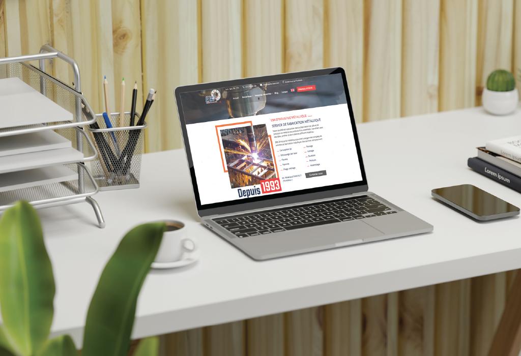 Création d'un site web Vitrine pour la société EBA