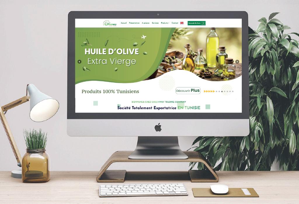 Création site web catalogue pour la société Greenway