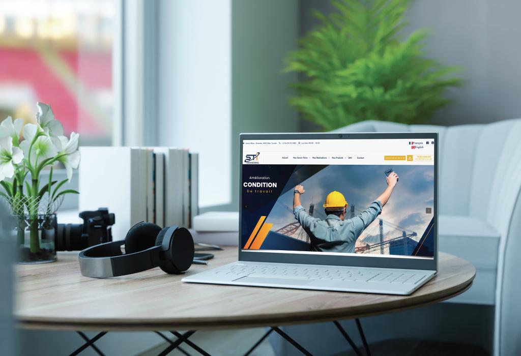 Création site web pour STI Industries