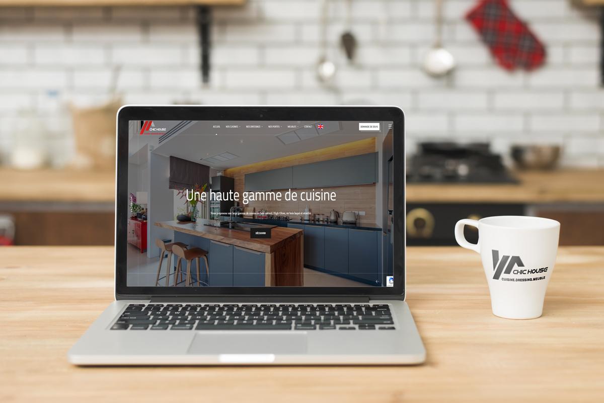 Création site web pour Chic House